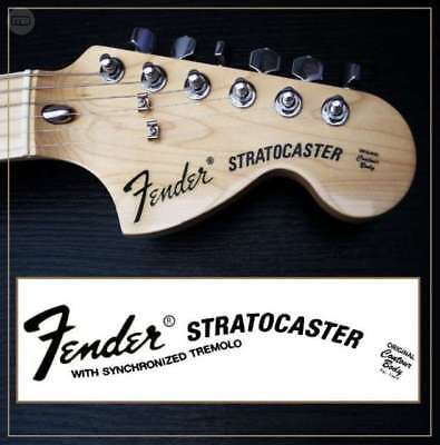 Fender Stratocaster  headstock decal