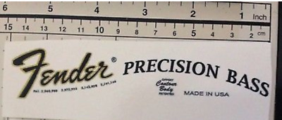 Fender Precision Bass Waterslide Head Stock Decal