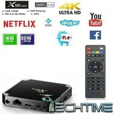 Smart Tv Box X96 Mini 4Gb Ram 32Gb Rom Android 7.1 4K Iptv Tastiera Rii Mini I8+