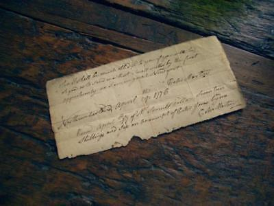 1776 Receipt ~ Northumberland PA ~ Peter Jones Tavern ~ Revolutionary War Year