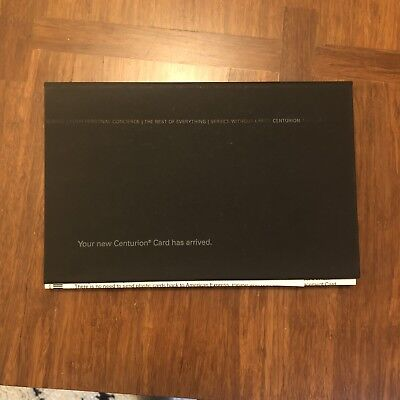 American Express AMEX Centurion Black Card Replacement Box