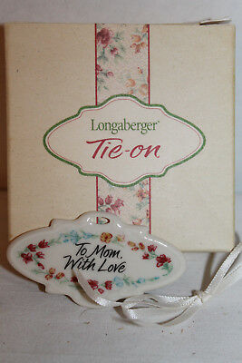New Longaberger 2001 Mother's Day Tie-On,  With Box