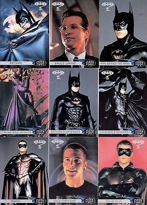 Batman Forever Movie 1995 Fleer Retail Base Card Set Of 120 Dc Not Ultra