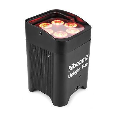 Spot Uplight PAR 6x12W Projecteur LED 6 en 1 UV RVBAB 72W batterie incluse -noir