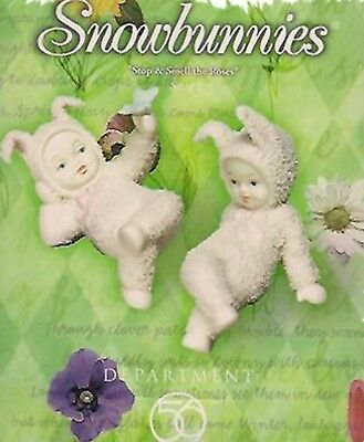 "Dept 56 Snowbunnies   - ""Stop & Smell The Roses""   #56.26320 NIB"