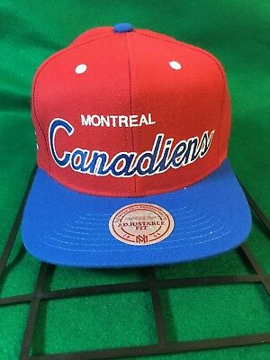 c319319995897 ... discount montreal canadiens mitchell ness nhl script mens adjustable snapback  cap hat 469ce 29287