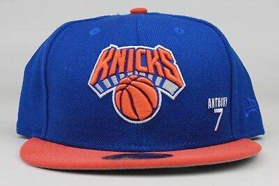 huge selection of b6918 66901 New York Knicks Blue Orange Carmelo Anthony NBA New Era 59Fifty Fitted Hat  Cap