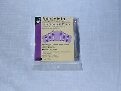 "Dritz Featherlite Boning 1/4"" with 1/2"" cover 2 Yards White"