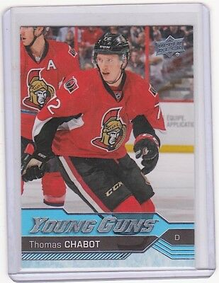 2016-17 Upper Deck Young Guns Rookie #488 Thomas Chabot RC Ottawa Senators