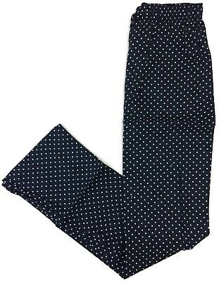 Navy Dots Pajama Pants for Men 100% Cotton Button Fly Side Pockets