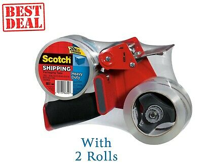 3M Tape Dispenser With 2 Rolls Of Heavy-Duty Shipping Guaranteed to Stay Sealed