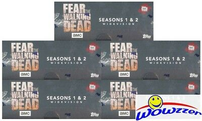 (5) Topps Fear the Walking Dead Season 1 & 2 WIDEVISION Sealed Hobby Box-10 AUTO