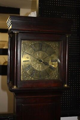 SMALL COTTAGE OAK LONGCASE CLOCK SINGLE HAND 30HR THORNE of TIVERTON DEVON 1730
