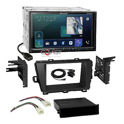 Pioneer 2018 Sirius BT GPS Ready Stereo Dash Kit Harness for 10-12 Toyota Prius