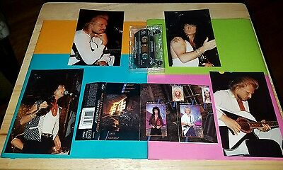 MSG Cassette Hand Signed by MICHAEL SCHENKER UFO ROBIN McAULEY + 4 LIVE Photos