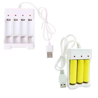 AA/AAA Rechargeable Battery USB 3/4 Slots Intelligent Battery Charger DC 1.5V