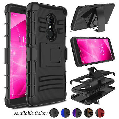 For Alcatel 3 / T-Mobile Revvl 2 Shockproof Belt Clip Holster Stand Case Cover