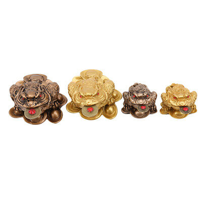 Feng Shui Money Lucky Fortune Wealth Chinese Frog Toad Coin Shop Office Decor