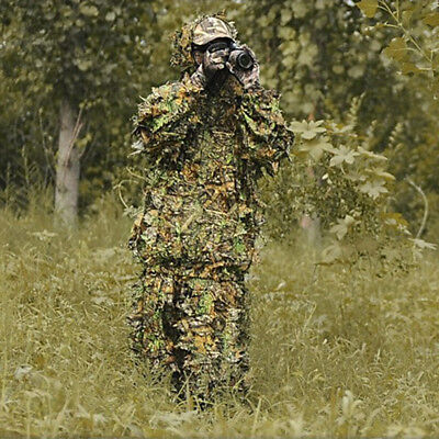 Mens Forest Leaves Camouflage Costumes Jungle Hunting Clothing Suit Outdoor OW