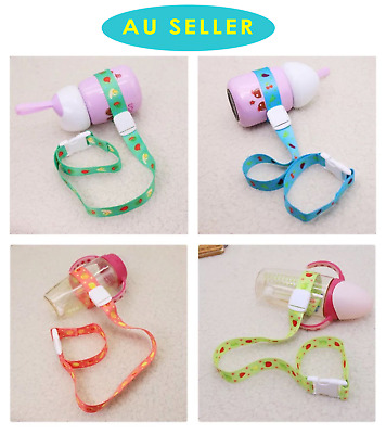 2PK Baby Infant Soother Toys Water Feeding Bottle Holder Chain Band Strap Pram