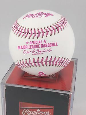 NEW Rawlings Official Mothers Day Breast Cancer MLB Major League Baseball Boxed