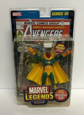 Vision MARVEL LEGENDS 2004 action figure series VII with comic book
