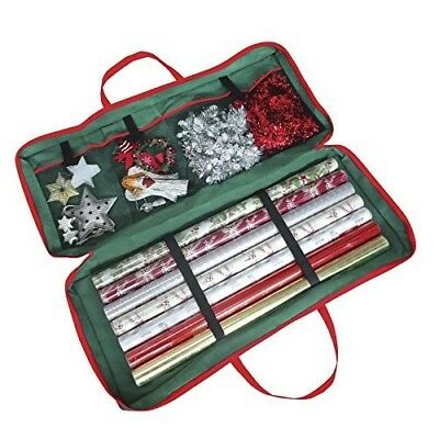 Christmas Gift Wrap Fabric Storage Bag (82 x 34 x 13 cm) . For Paper, Tags & Bow
