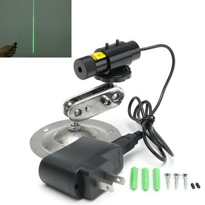 For Cutting Machine 532nm 50mW Green Laser LINE Module Locator + Adapter + Mount