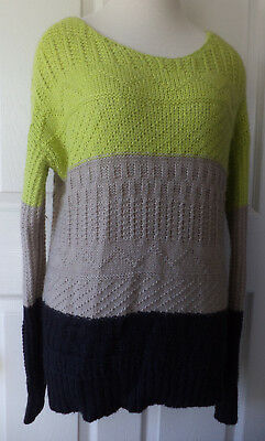 7876e60f43385a Willow   Clay Anthropologie Women s Color Block Pullover Knit Sweater ...