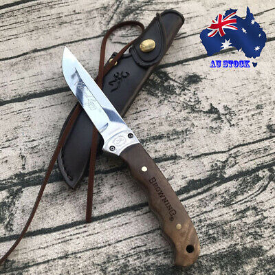 028# Browning Shadow Wood Fixed Blade Knife Outdoor Camping Survival Hunting AU