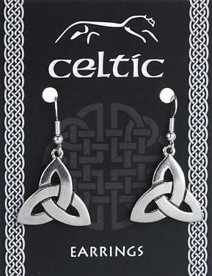 A Pair Of Celtic Triquetra Knot Earrings