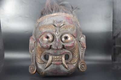 God Of Death Demons Shamanic Shaman Hairy Old Mountain Himalayan Mahakala Mask