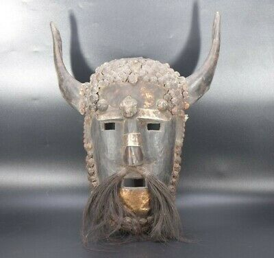 Shamanic Old Rare Shaman tribal Himalayan Mountain Ethnic Old Antique Mask Nepal