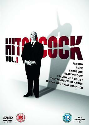 ALFRED HITCHCOCK DVD Collection 7 Films PSYCHO REAR WINDOW ROPE SABOTEUR EXTRAS