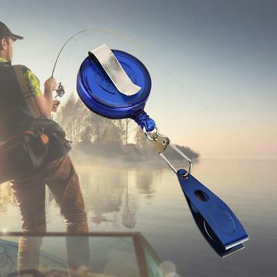 Fly Fishing Steel Line Nail Nipper Clipper Pin On Reel w// Retractable Waist Clip