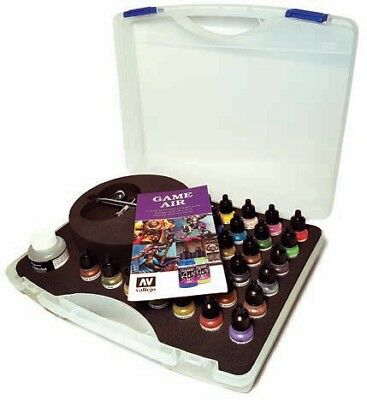 VALLEJO ACRYLIC PAINTS 72871 Basic Game Air Set in Case 28p