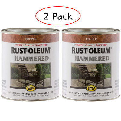2 Qt Copper Rust Oleum Gloss Hammered Metal Finish Paint
