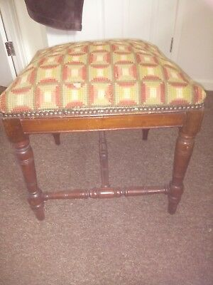Unusual Edwardian Mahogany Adjustable Piano Dressing Stool Elegant Shape ref 577
