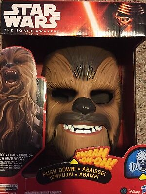 Star Wars The Force Awakens Chewbacca Electronic Mask Roar!
