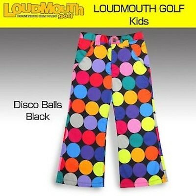 New Loudmouth  Golf Pants Size 4T 4 Girls Disco Balls Colorful Kids