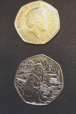 UnCirculated Paddington Bear AT Station 50p Fifty Pence coin 2018 - Free Postage