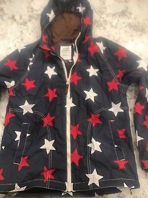 Mini Boden Boys Red/White/Blue Star Hooded Jacket Size 11-12Y FREE SHIPPING!