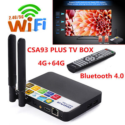 2019 4+64GB DDR3 Android8.1 Amlogic RK3328 Octa Core Smart TV BOX 4K HDMI Movies