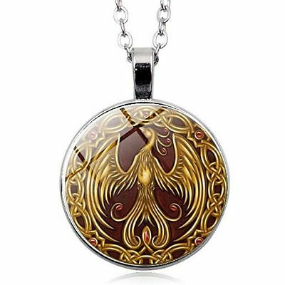 Phoenix Bird Constellation Mythology Necklace Pendant Greek Egypt Sun Magical