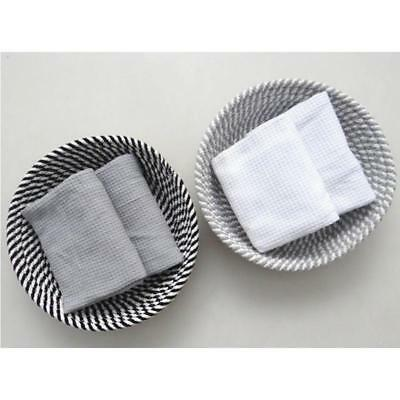 Useful Home Storage Woven Cotton Rope Basket Mats Table Holder 6L
