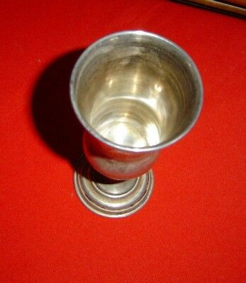 """Antique  Sterling Silver Russian Goblet Signed/marked 84.  5 3/4"""" Tall,"""