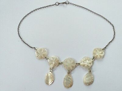 Antique Victorian Mother of Pearl MOP STAR Collar Necklace Vintage