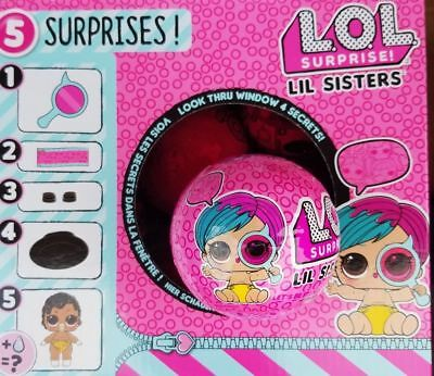 LOL SURPRISE DOLLS SERIES 4 Wave 2 LIL SISTERS EYE SPY Authentic SEALED - 1 BALL