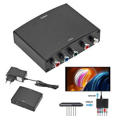 YPBPR to HDMI 1080P to RGB Component Video +R/L Audio Adapter Converter Splitter