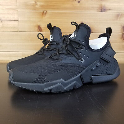 bd68552b3438 NIKE AIR HUARACHE Drift Triple Black Men s Running Shoes AH7334-003 ...